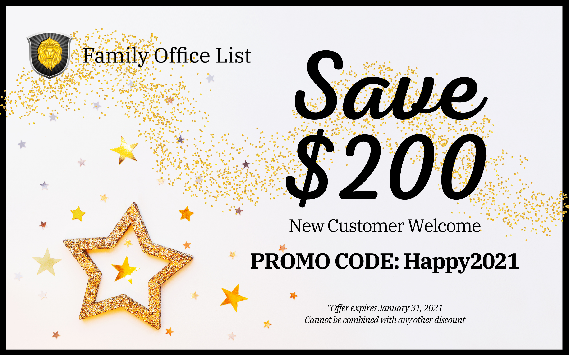Family Office List - New Customers Save $200 - expires 1/31/21